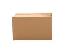 简单的棕色纸盒箱子 库存照片