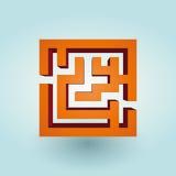 简单的橙色迷宫 库存照片