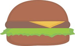 简单的汉堡 库存图片