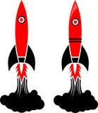 简单的火箭 库存图片
