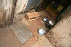简单的烹调区,非洲 库存照片