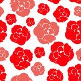 简单的玫瑰色样式 向量例证