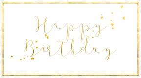 简单的生日快乐卡片 免版税库存照片