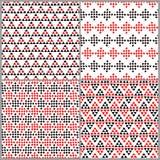 简单的种族五颜六色的三角无缝的样式,传染媒介 皇族释放例证