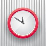 简单的红色e时钟 图库摄影