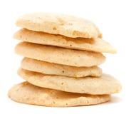 简单的自创hazenut蛋白杏仁饼干 免版税库存图片