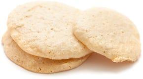 简单的自创hazenut蛋白杏仁饼干 库存图片