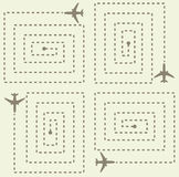简单的航空器样式 免版税库存图片