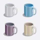 简单的色的杯子 库存图片
