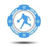 简单的蓝球队象征 免版税库存图片
