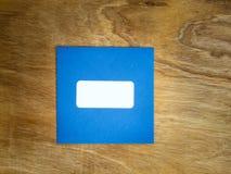 简单的蓝色windowed信封 库存照片