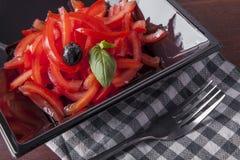 简单的蕃茄沙拉 库存图片