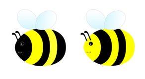 简单的蜂 免版税库存照片