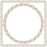 简单的装饰框架 图表desi的元素 图库摄影
