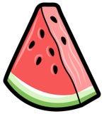 简单的西瓜三角,传染媒介象 库存例证