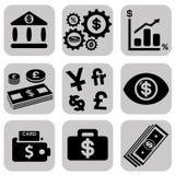 简单的象集合相关对金钱 免版税图库摄影