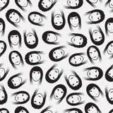 简单的面孔样式eps10 免版税图库摄影