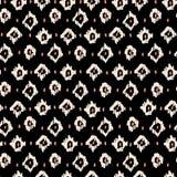 简单的领带染料无缝的样式,织品的黑ikat传染媒介 免版税库存图片