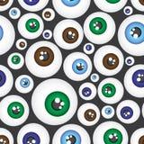 简单的颜色眼孔图样eps10 免版税库存照片