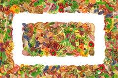 简单的食物框架和横幅 库存图片