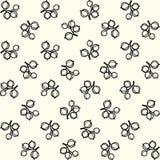 简单的黑白鹅莓样式 免版税库存照片