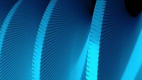 简单的3d螺旋的自转,关闭看法,动态3d回报背景,计算机生成的企业背景 皇族释放例证