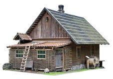 简单的noname被隔绝的农村棚子 免版税库存图片
