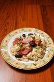 简单盘的意大利面食 免版税库存照片