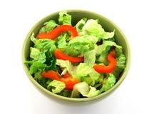 简单碗的蔬菜沙拉 免版税库存图片
