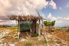 简单自然的风雨棚 图库摄影