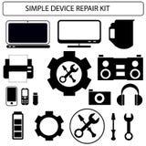 简单设备修理工具包 库存图片