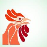 简单设计rooster& x27; s头 免版税图库摄影