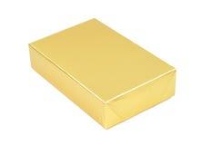 简单配件箱礼品金黄的照片 库存图片