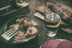 简单,鲜美快餐和酒精 免版税库存图片