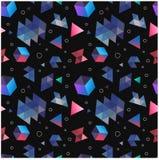 简单派的无缝的原始几何样式 免版税库存照片