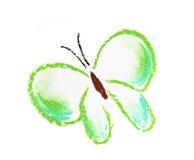 简单蝴蝶绿色的例证 免版税库存照片