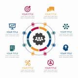 简单infographic与象的配合您的内容的事务和地方的 向量例证