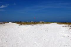 简易机场沙子白色 免版税图库摄影