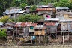 简陋小木屋家在菲律宾 免版税库存照片