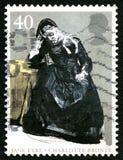 简・爱英国邮票 免版税库存照片