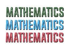 算术在数学标志的物理惯例 免版税库存图片