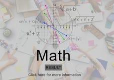 算术数学教育知识学校概念 免版税图库摄影
