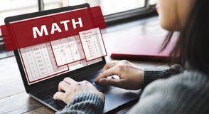 算术数学演算图概念 免版税图库摄影