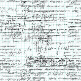 算术无缝的样式手写在栅格习字簿纸 免版税库存图片