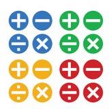 算术标志vectorÂ和算术象 皇族释放例证