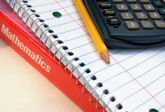 算术用品 免版税库存照片