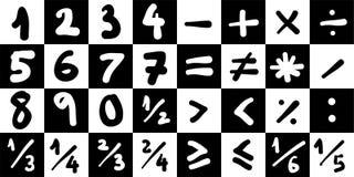 算术符号 图库摄影