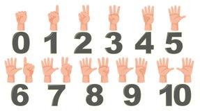算术计数手指姿态 皇族释放例证