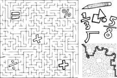 算术迷宫 免版税库存照片
