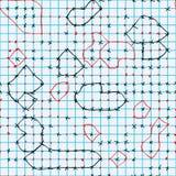 算术页比赛无缝的样式 库存例证